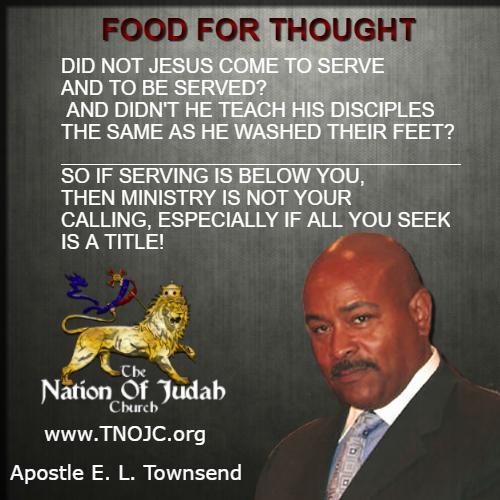 Be a Humble Servant TNOJC