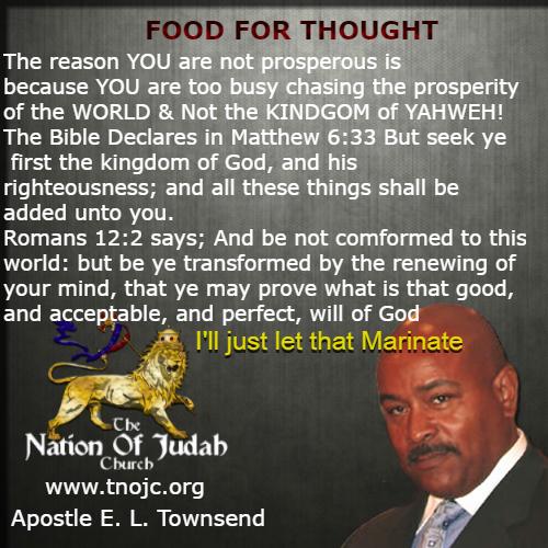 Seek Ye First The Kingdom TNOJC